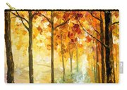 Hidden Path - Palette Knife Oil Painting On Canvas By Leonid Afremov Carry-all Pouch