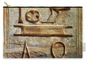 Hieroglyphics At Amada Carry-all Pouch