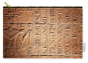 Hieroglyphs In The Temple Of Kalabsha  Carry-all Pouch