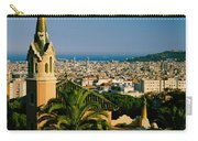 High Angle View Of A City, Barcelona Carry-all Pouch