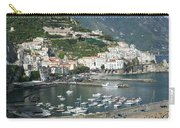 High Angle View Of A Town, Amalfi Carry-all Pouch