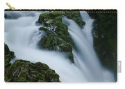 High Angle View Of A Waterfall, Sol Duc Carry-all Pouch