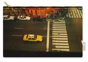 High Angle View Of Cars At A Zebra Carry-all Pouch