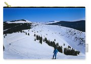High Angle View Of Skiers Skiing, Vail Carry-all Pouch