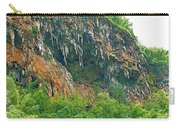 High Cliffs Along River Kwai In Kanchanaburi-thailand Carry-all Pouch