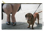 High Heels And A Dachsund Carry-all Pouch