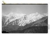High Himalayas - Black And White Carry-all Pouch