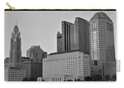 Columbus Close Up Black And White Carry-all Pouch