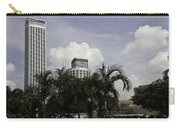 High Rise Buildings Behind Trees Along With Construction Work In Singapore Carry-all Pouch