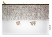 Highland Cattle In The Snow Carry-all Pouch
