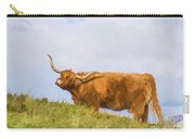 Highland Cow Watercolour Carry-all Pouch