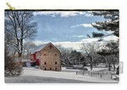 Highland Farms In The Snow Carry-all Pouch