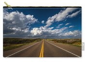 Highway Life - Blue Sky Down The Road In Oklahoma Carry-all Pouch