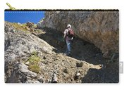 hiker in Dolomites Carry-all Pouch