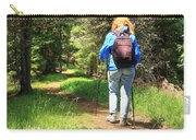 Hiker In The Forest Carry-all Pouch