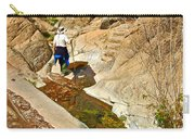 Hiker On Window Trail In Chisos Basin In Big Bend National Park-texas   Carry-all Pouch