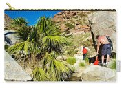 Hikers At Oasis On Borrego Palm Canyon Trail In Anza-borrego Desert Sp-ca  Carry-all Pouch