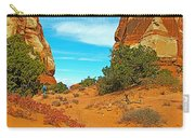 Hiking Between Massive Needles In Needles District Of Canyonlands National Park-utah Carry-all Pouch