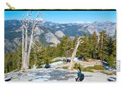 Hiking On Barren Rock On Sentinel Dome In Yosemite Np-ca Carry-all Pouch