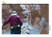 Hiking Through Narrow Slot Of Ladder Canyon Trail In Mecca Hills-ca Carry-all Pouch