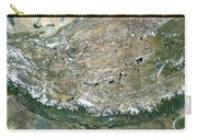 Himalaya Mountains Asia True Colour Satellite Image  Carry-all Pouch