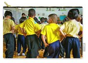 Hip-swinging Kindergarten Students At Baan Konn Soong School In Sukhothai-thailand Carry-all Pouch