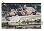 Hippo At Leisure Carry-all Pouch
