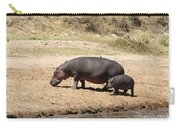 Hippo Mum And Calf Carry-all Pouch