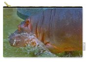 Hippo Taking A Plunge Carry-all Pouch