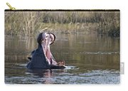 Hippo Yawning Carry-all Pouch