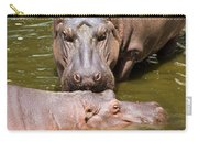 Hippopotamus In Water Carry-all Pouch