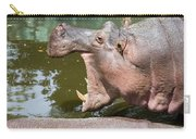 Hippopotamus With Open Mouth Carry-all Pouch