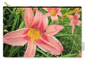 Hiroko Pink Daylily Carry-all Pouch