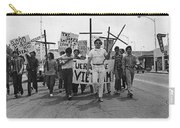 Hispanic Anti-viet Nam War March Tucson Arizona 1971 Black And White Carry-all Pouch