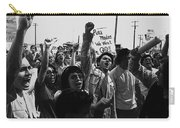 Hispanic Anti-viet Nam War Rally Tucson Arizona 1971 Black And White Carry-all Pouch
