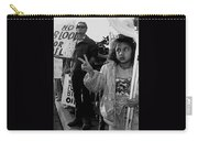 Hispanic Protestor Winston Churchill Victory Finger Sign Anti-gulf War Rally Tucson Arizona 1991 Carry-all Pouch