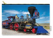 Historic Jupiter Steam Locomotive - Promontory Point Carry-all Pouch by Gary Whitton