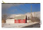 Historic Red Barn On A Snowy Winter Day Carry-all Pouch