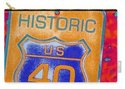 Historic Route 40 Pop Art Carry-all Pouch