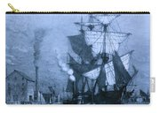 Historic Seaport Blue Schooner Carry-all Pouch