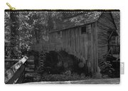 Historical 1868 Cades Cove Cable Mill In Black And White Carry-all Pouch