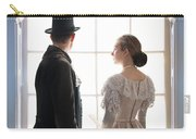 Historical Couple Standing In An Arched Window Carry-all Pouch