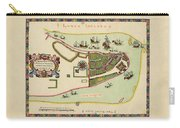Historical Map Of Manhattan 1661 Carry-all Pouch