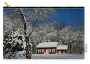 Historical Society House In The Snow Carry-all Pouch