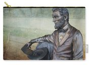 History - Abraham Lincoln Contemplates -  Luther Fine Art Carry-all Pouch