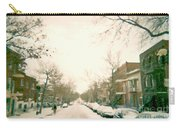Hiver Psc Winter In The Point Snowy Day Paintings Montreal Art Cityscenes Brick Houses Snowed In Carry-all Pouch
