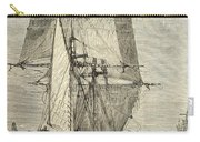 Hms Beagle In Phosphorescent Sea Carry-all Pouch