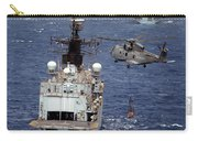 Hms Cornwall Is Pictured Receiving Stores By Merlin Helicopter  Carry-all Pouch