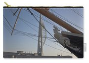 Hms Warrior Viewing The Spinnaker Tower Carry-all Pouch