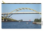 Hoan Bridge Boats Light House 1 Carry-all Pouch